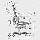 3-D-Bürodrehstuhl Lederpolsterung mit hoher Rückenlehne