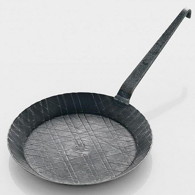 Eisenpfanne mit Hakenstiel