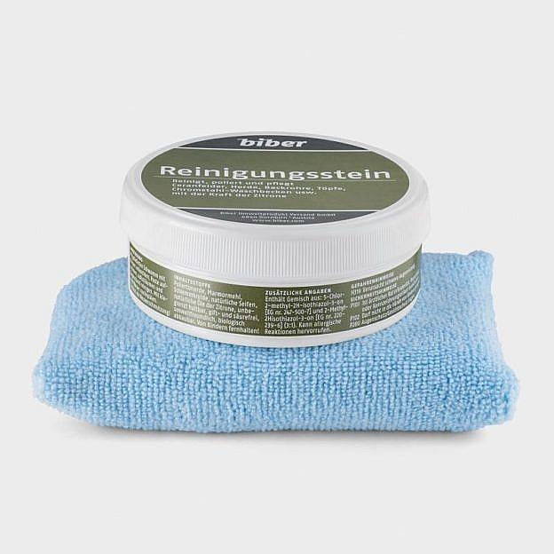 Reinigungsstein und Mikrofaserschwamm