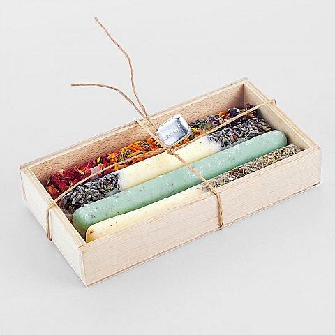Handgefertigte Badestangen - Natürliche Kräuter- und Blütenölbäder