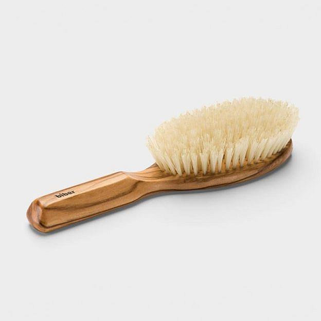 Haarbürste bombiert oval, Olivenholz