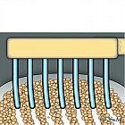 Zahnbürste mit Curen-Borsten