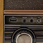 Nostalgie-USB-Aufnahme-Musikcenter Eiche, DAB+/UKW/BT
