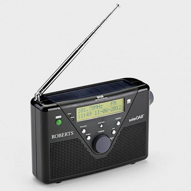 Roberts-Solar-Digitalradio DAB+/UKW, schwarz
