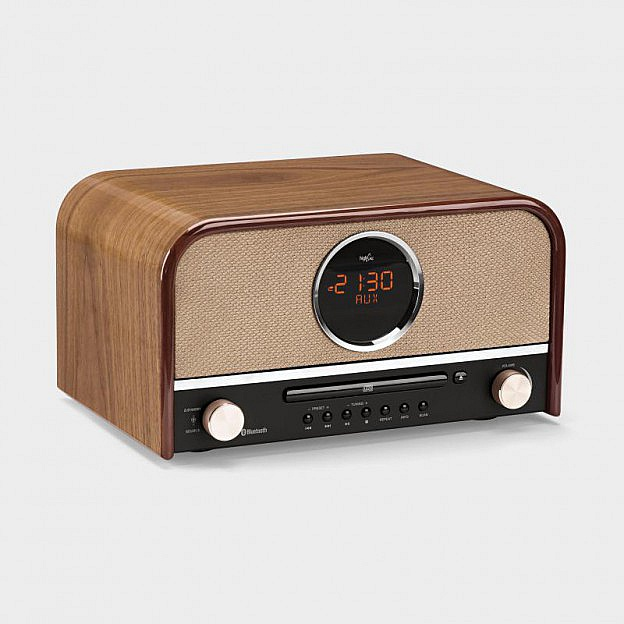 Nostalgie-Stereoradio, Bluetooth, walnuss