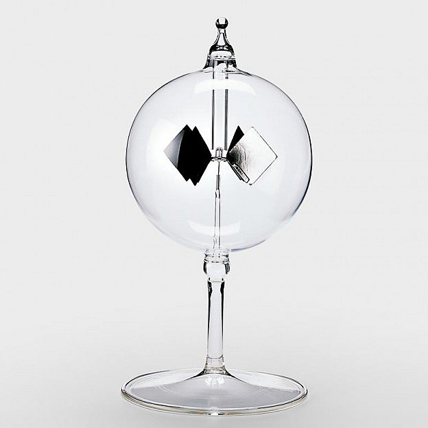 Radiometer - Lichtmühle aus Glas
