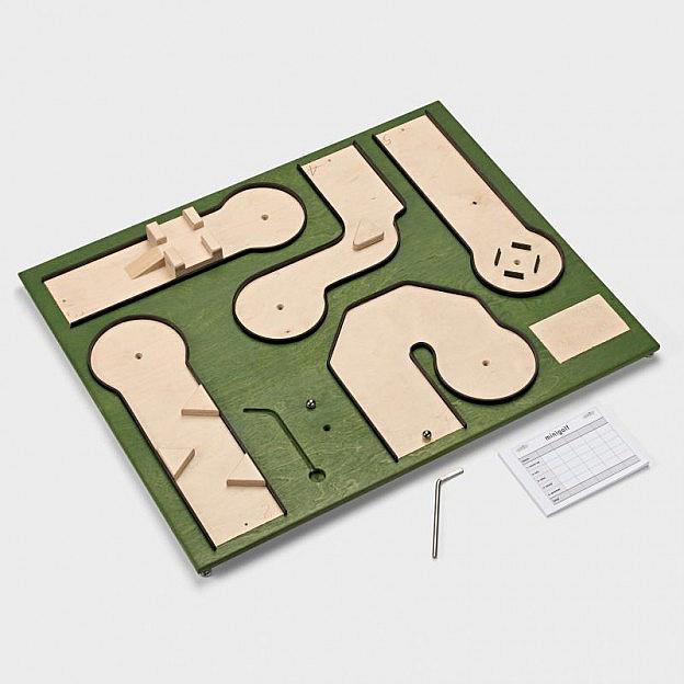 Tisch-Minigolf Birkenholz