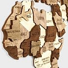 Puzzle Weltkarte, Birke