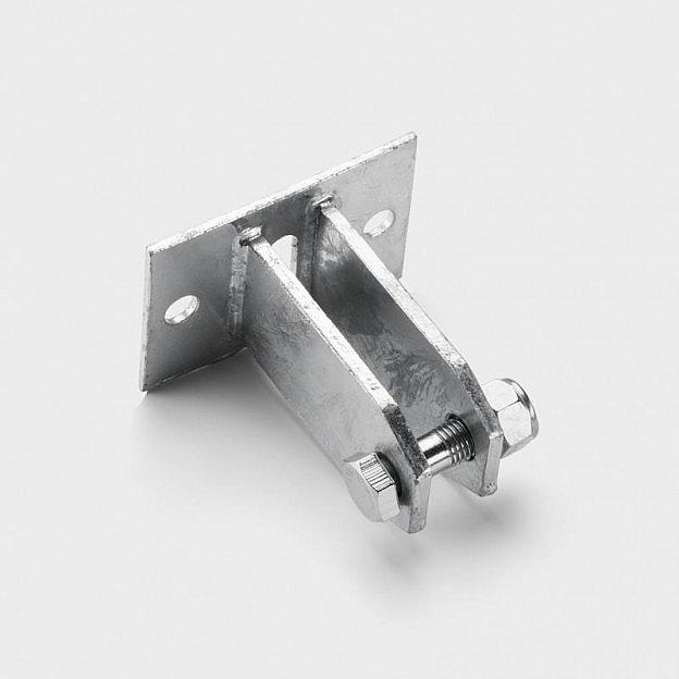 Seilhalterung mit flacher Auflage, Stahl verzinkt