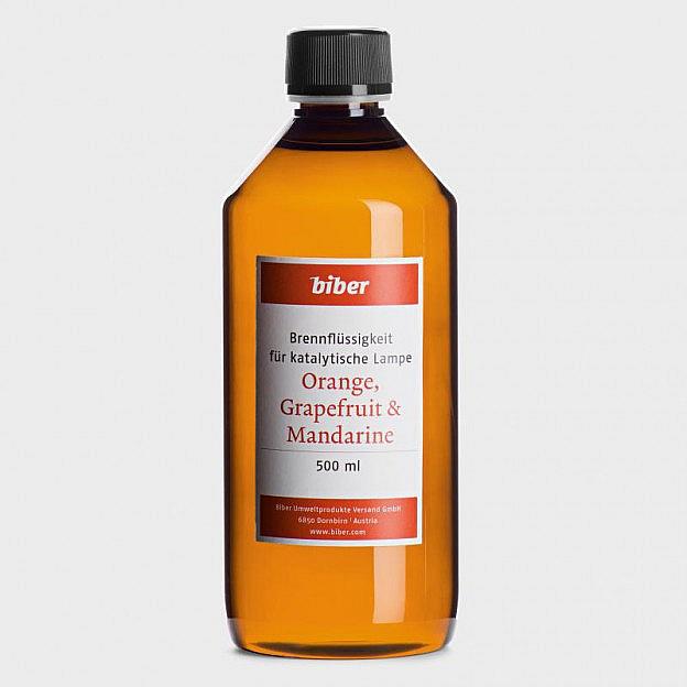Brennflüssigkeit für Katalytische Lampen, Orangen, Grapefruit, Mandarine