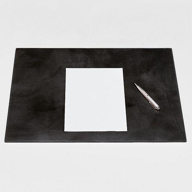 Schreibunterlage Rindsleder, schwarz