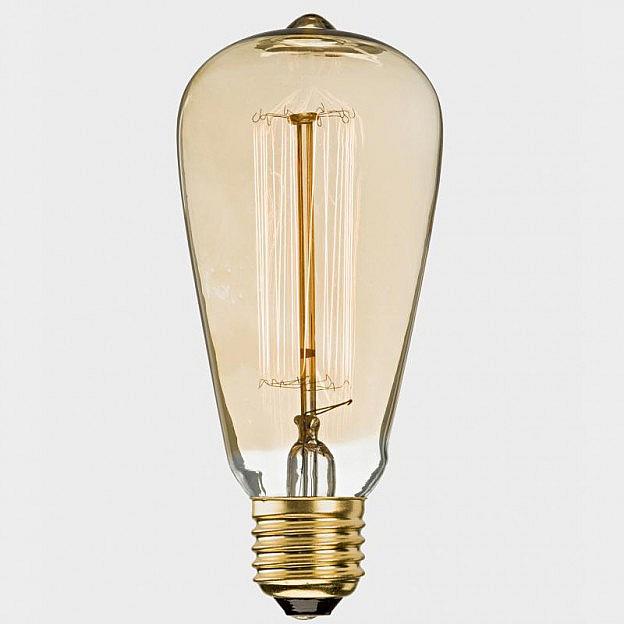 Deko-Metallfaden-Glühbirne Rustika 60 W