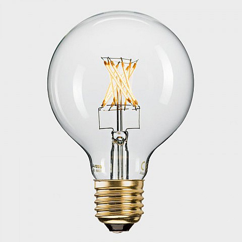 LED-Filament-Globelampe klar (6 W = 42 W), dimmbar