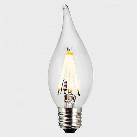 LED-Filament-Kerze-Windstoss, dimmbar