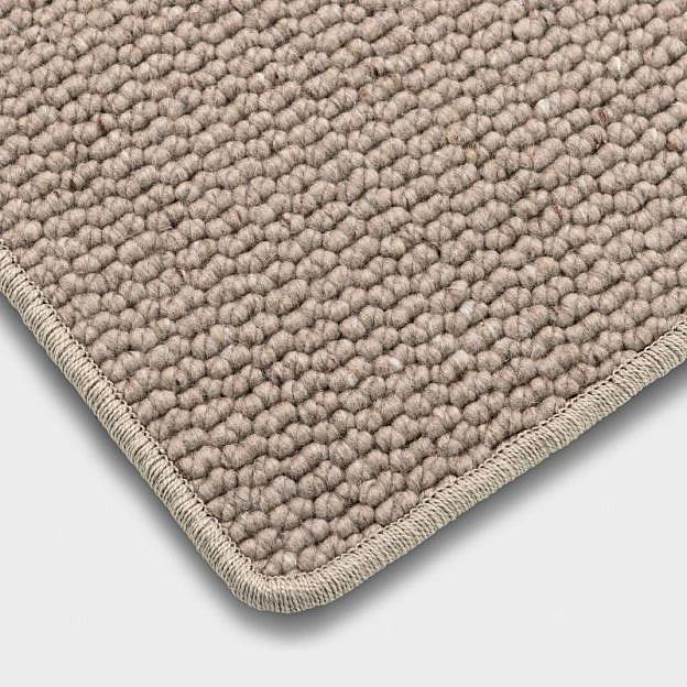 Schurwollteppich sand, 140 x 200 cm