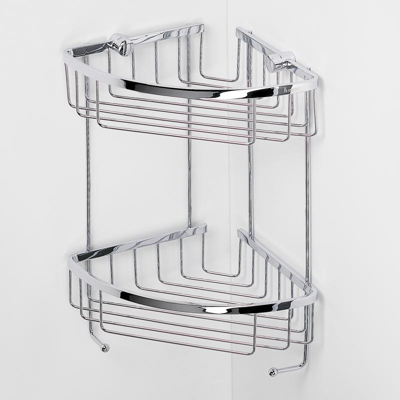 biber umweltprodukte eck duschablage doppelt messing online bestellen. Black Bedroom Furniture Sets. Home Design Ideas