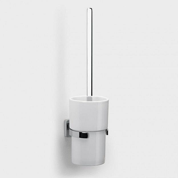 Wand-Toilettenbürstenset Messing/Porzellan