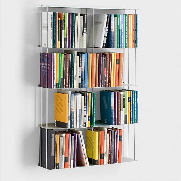 Wandbücherregal Aluminium 67 x 100 cm