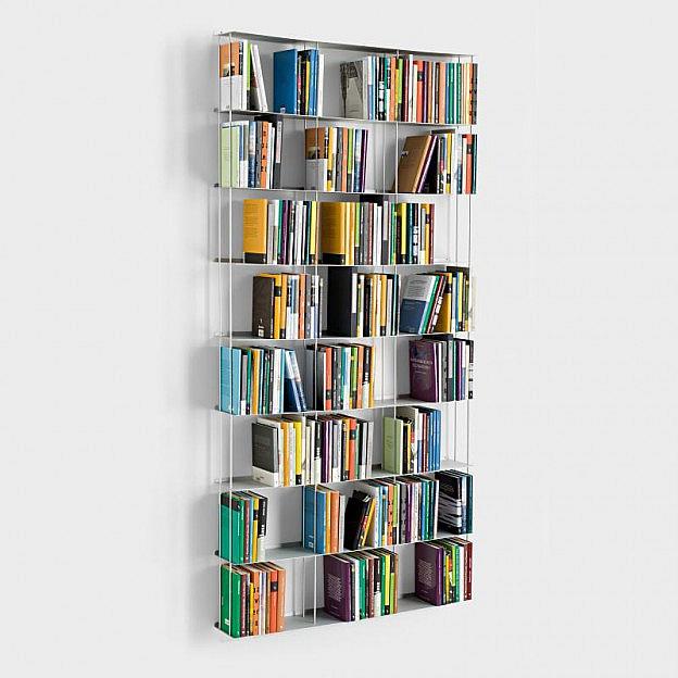 Wandbücherregal Aluminium 100 x 200 cm