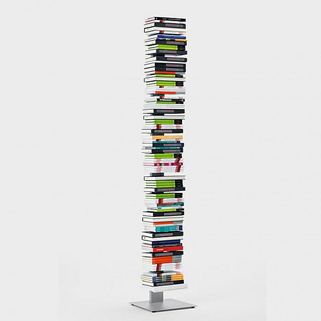 Bücherturm Stahl, 196 cm