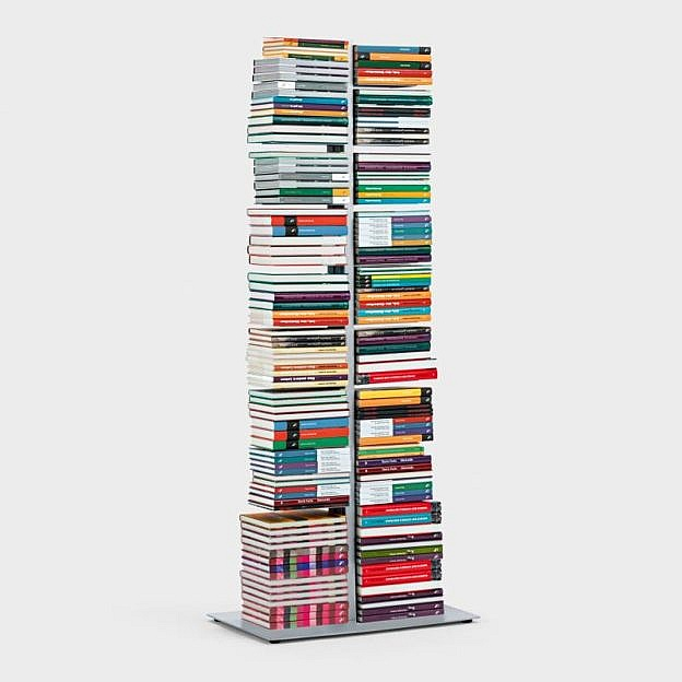 Doppel-Bücherturm Stahl, 154cm