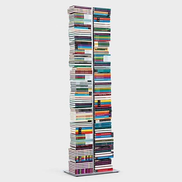Doppel-Bücherturm Stahl, 196 cm