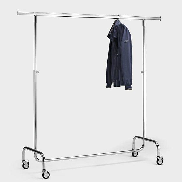 Mobiler Kleiderständer 150 cm, Stahl