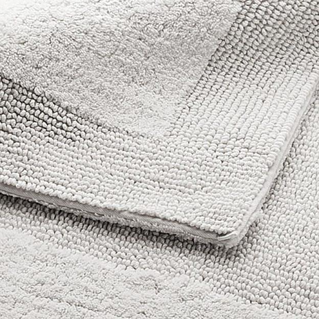 Badezimmerteppich Doppelflor, grau