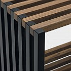 Faltbares Sideboard, Walnuss/schwarz