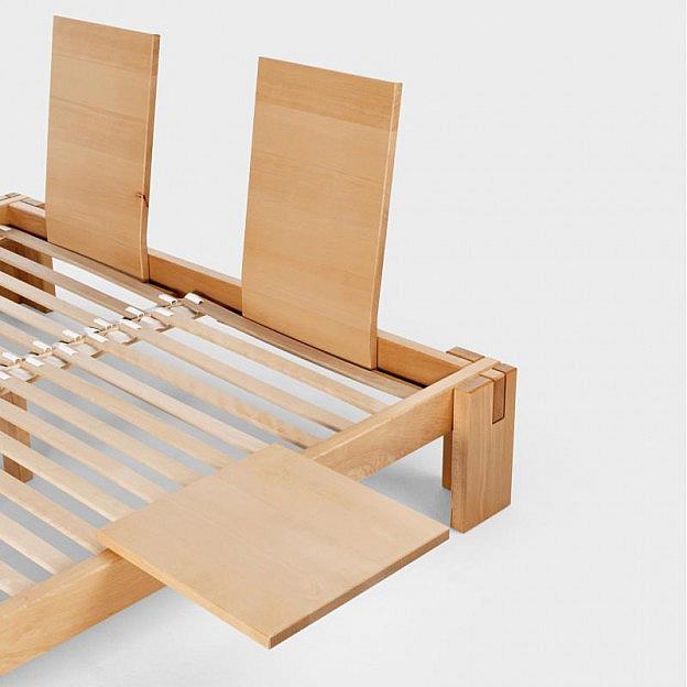 Rückenlehne zum Bett Nuveo Buche