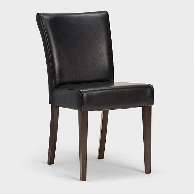 Stuhl Rindsleder Stonewash, schwarz
