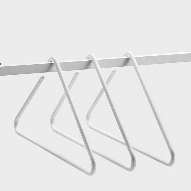 Kleiderbügel Triangle Aluminium, weiß