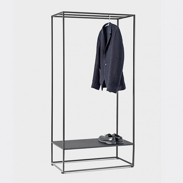 Garderobe Stahl, schwarz