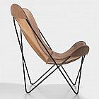 Hardoy-Butterfly-Chair Blankleder Vintage