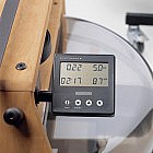 Ruderergometer Eichenholz geölt mit Leistungsmonitor
