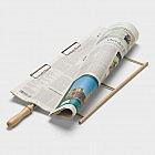 Zeitungshalter Buchenholz