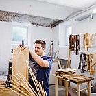 Zeitungshalter Korbrohr, 50 cm