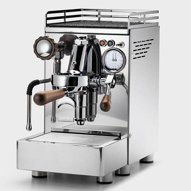 Zweikreis-Espressomaschine mit Doppelmanometer, Edelstahl