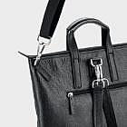 Shopper/Rucksack Rindsleder, schwarz