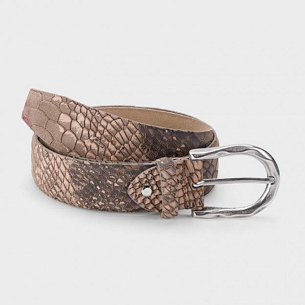 Damengürtel Schlangenoptik Rindsleder