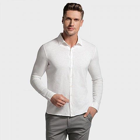 Herren-Baumwollhemd weiß