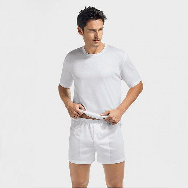 Hanro-Herrenunterhemd, weiss