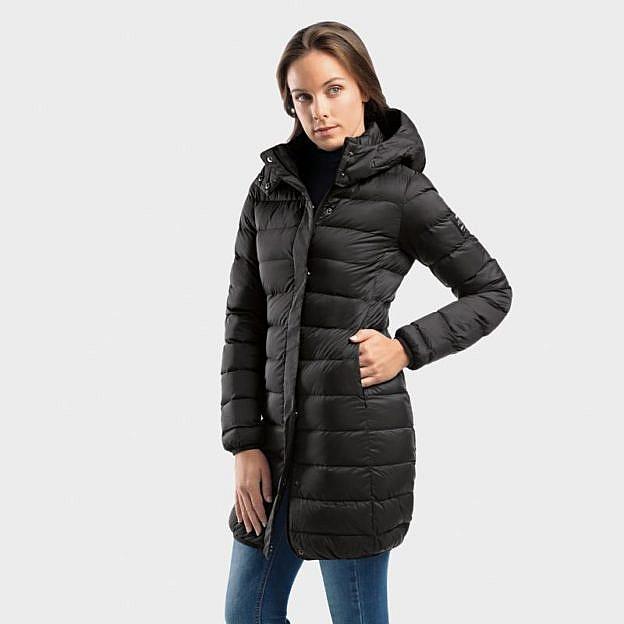 Ecoalf-Damen-Daunenmantel, schwarz