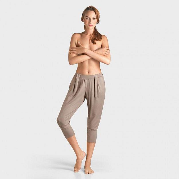 Yoga-Caprihose Micromodal, taupe