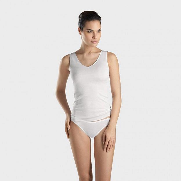 Hanro-Damen-Unterhemd, weiss