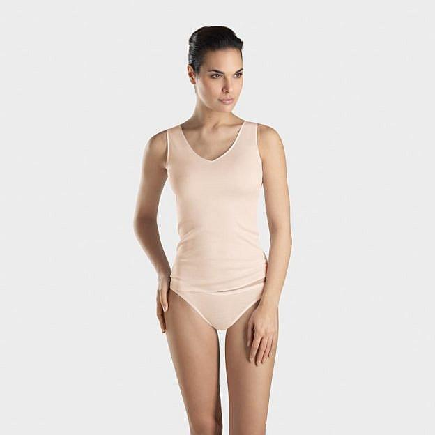 Hanro-Damen-Unterhemd, hautfarben