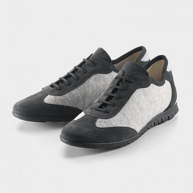 Damen-Sneaker Wollfilz/Leder