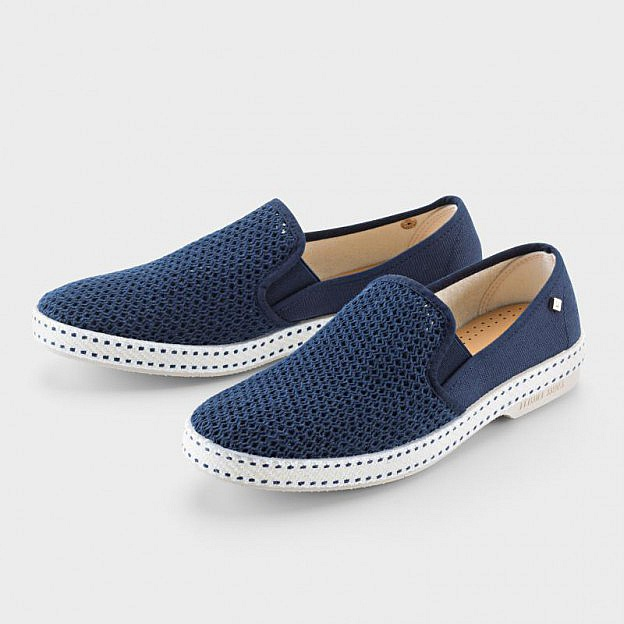Damen-Baumwollslipper, navy