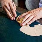 Damen-Winterstiefelette mit Lammfellkragen, Rindsleder