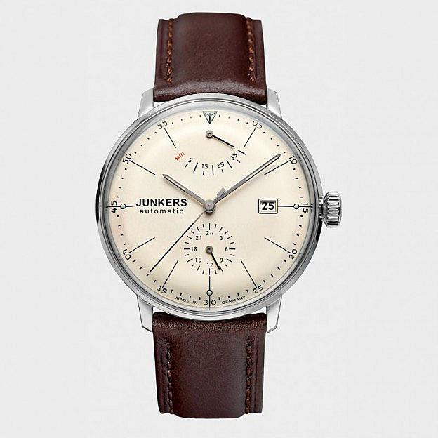 Armbanduhr Junkers Bauhaus Gangreserve, beige